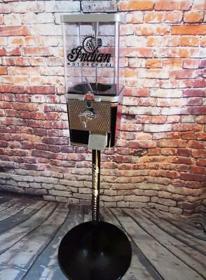 vintage nut candy gumball machine+ stand  INDIAN MOTORCYCLE man cave accessories