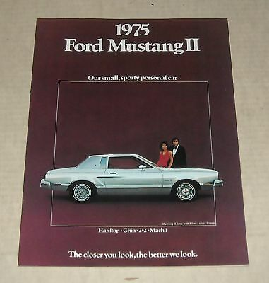 1975 Ford Mustang Ii Advertising Auto Sales Dealership Color Brochure