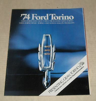 1974 Ford Torino Full Line Advertising Auto Sales Dealership Color Brochure