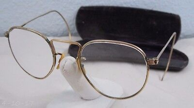 Vintage American Optical 1/10 12K GF Gold Rim Eyeglasses York PA