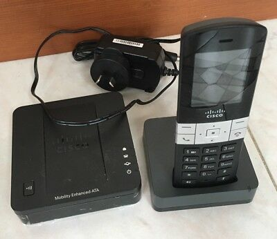 Cisco Cordless Handset Phone SPA302D & Base SPA232D Mobility Enhanced ATA