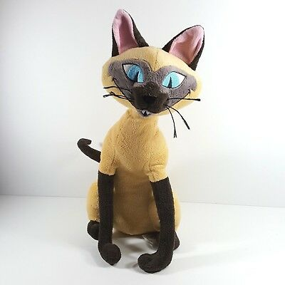 "Disney Store 16"" Lady and the Tramp Si Am Siamese Cat Plush"
