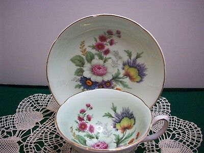 Vintage Royal Grafton Bone China Cup & Saucer  Beautiful Mint Green