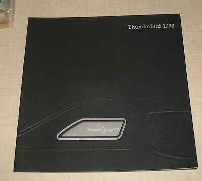 1973 Ford Thunderbird Advertising Auto Sales Dealership Color Brochure