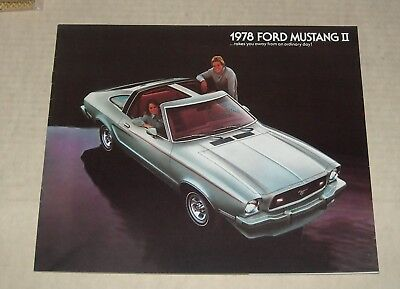 1978 Ford Mustang Ii Advertising Auto Sales Dealership Color Brochure