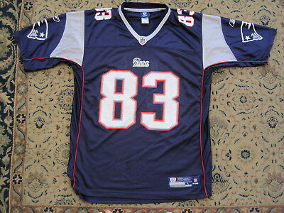WES WELKER NEW ENGLAND PATRIOTS NFL APPROVED JERSEY ADULT LARGE by REEBOK