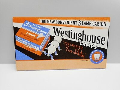 "Vintage - ""WESTINGHOUSE LAMPS""  -  Advertising Blotter"