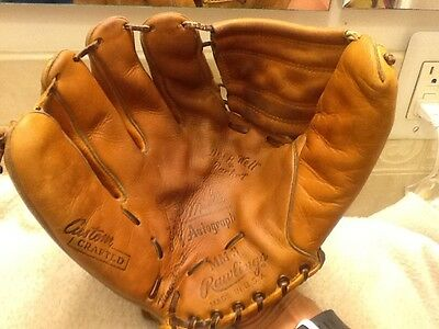 1960's Vintage USA Rawlings Mickey Mantle MM3 Baseball Glove Left Hand Throwing