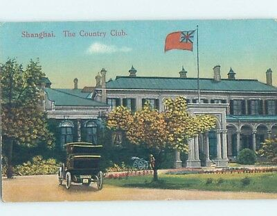 Old Postcard COUNTRY CLUB BUILDING Shanghai China F4927