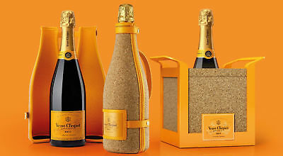 Veuve Clicquot Square Cork Champagne Bucket With Handles Brand New