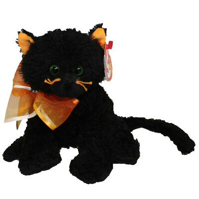 TY Beanie Baby - MOONLIGHT the Black Cat (6 inch) - MWMTs Stuffed Animal Toy