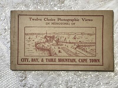 Vintage Photographic Views Postcards Book CITY, BAY & TABLE MOUNTAIN, CAPE TOWN
