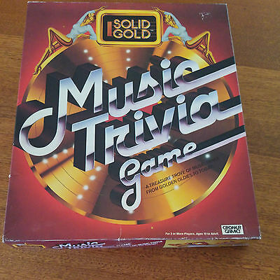 Solid Gold Music Trivia Board Game 1984 Complete
