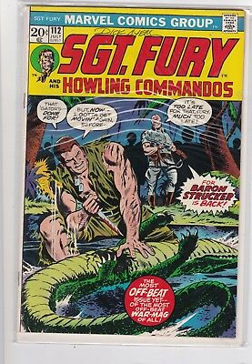 Sgt. Fury #112 (1973)  Marvel Comics  SIGNED BY DICK AYERS W/COA
