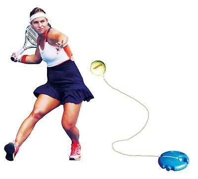 Tennis Practice Trainer Perfect Training Aid Hit And Ball Comes Back Rubber Cord