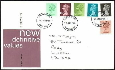 Fdc - G.b. 1980 New Definitive Values -  First Day Cover