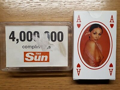 Playing cards: Sun page three deck from the 1980's