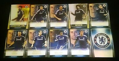 10 x Chelsea FC Topps Premier Club 2014/15 Soccer Cards inc INSERTS Team Set