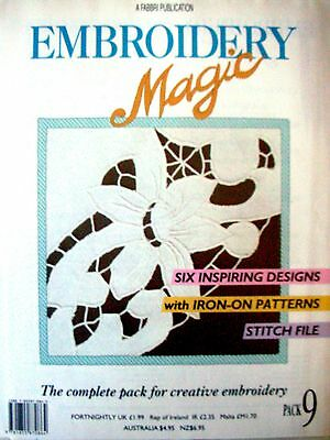 EMBROIDERY MAGIC No.9 - 6 Designs with Iron-on Patterns Creative Embroidery VGC