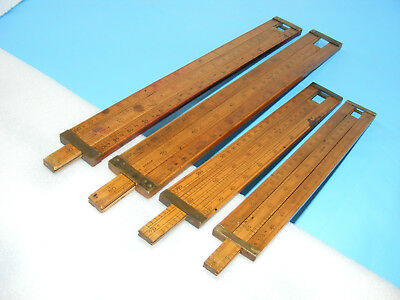 Four Old Alcohol Proof Slide Rules, Various Makers