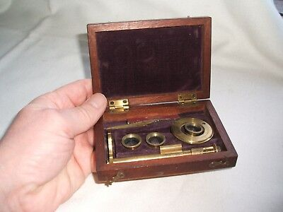 Rare early 19th century small size Field Student Botanical Microscope