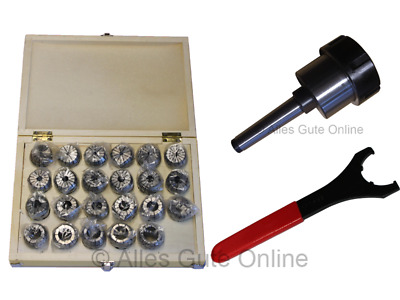 MT2 M10 Collet Chuck ER40  + ER40 Collet Set HK + Wrench  #333