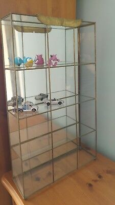 Mirror Glas Display Unit Cabinet Models Cars figures not incl.