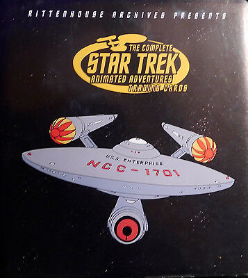 STAR TREK The Complete Animated Adventures Trading Cards - Binder/Album +Promo