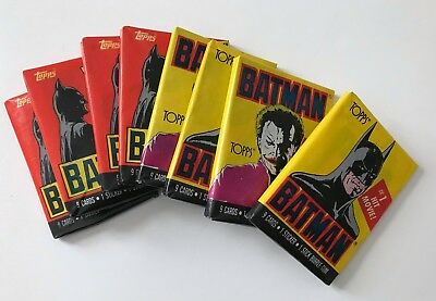 Batman 1989 - lot of 8 unopened wax packs - 4 from each series -- Topps