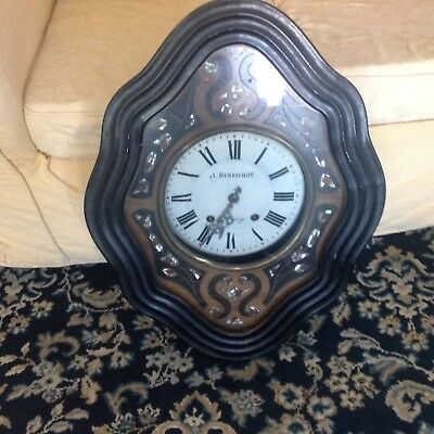 antique french vineyard wall clock
