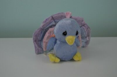 "Precious Moments Tender Tails Peacock Plush Stuffed Animal Toy Enesco 5.5"" bird"