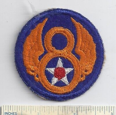 Orig WW2 US Patch ARMY AIR FORCE - 8th AIR FORCE USAAF- Shoulder WWII 8 Military