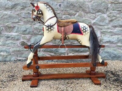 Large Restored Antique Rocking Horse By Lines With Worldwide Delivery + Shipping