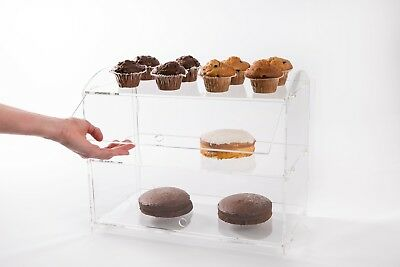 Acrylic Cake Stand Bakery Pastry Display Unit Donuts Cupcake Pastries Cabinet