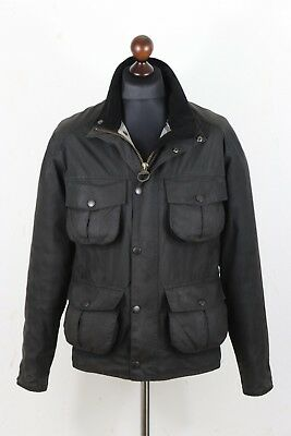 BARBOUR A419 New Utility Mens Waxed Jacket size Small S Authentic