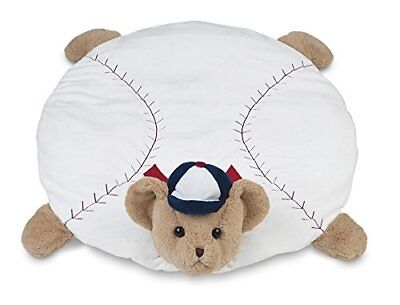 "Bearington Baby Lil' Slugger Baseball Belly Blanket Tummy Time Mat 30"" x 30"""