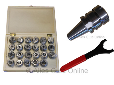 MAS/BT40 Collet Chuck ER40  + ER40 Collet Set HK + Wrench  #333