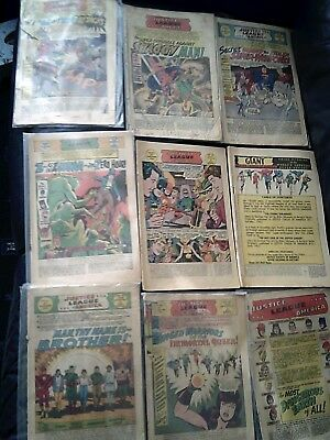 Justice League Of America Nine Issue Lot All Missing Covers 1964-69 Silver Age