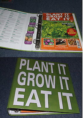 Plant It Grow It Eat It - 3 Garden Magazine & Binder + 3 Lots Of Seeds In Tins