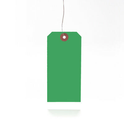 Green Strung Tie On Tags String Luggage Labels Wedding Craft Gift 120mm x 60mm