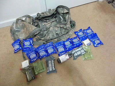 Small Lot Of Army First Aid Emt Ifak Survival Gear With Acu Ucp Digital Pack