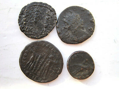 Roman Copper Coins Unidentified Qty 4