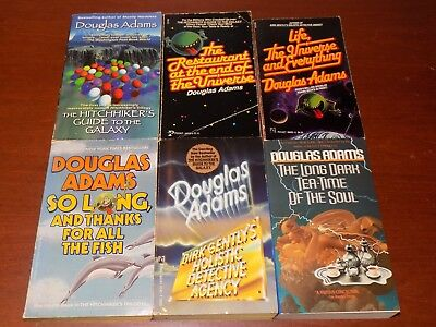 Lot of 6 Douglas Adams books PB Hitchhiker's Guide to the Galaxy, Dirk Gently's