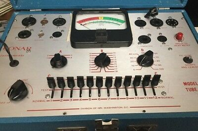 Vintage Conar #224 Tube Tester, Manual, And Charts Working!