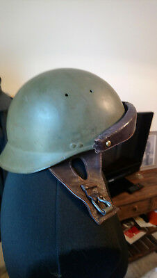 Casque Modele 35 Char/troupe Motorisee Taille 58/france 40