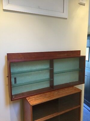 REALLY NICE 1950'S SOLID OAK WALL DISPLAY CASE, ideal for cars, trains etc