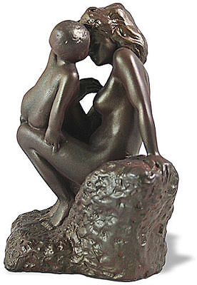 Auguste Rodin Mother with Child Bonded Bronze Sculpture Statue Figurine