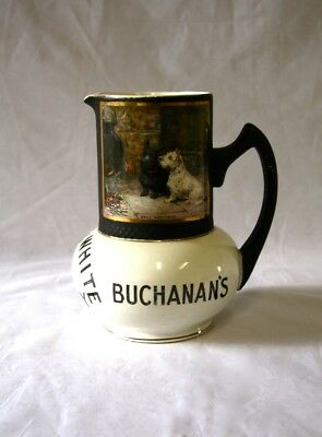 Very old little whisky water jug Black & White Scotch whisky, Buchanan's,14.5cm