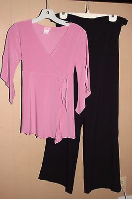 Size Medium MATERNITY OUTFIT Top & Dress Pants WORK CAREER PROFESSIONAL