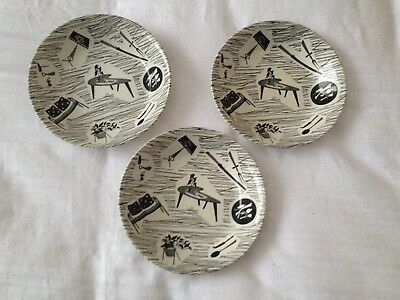 Ridgway Homemaker Bowls 1963 Stamp Vintage Black and White